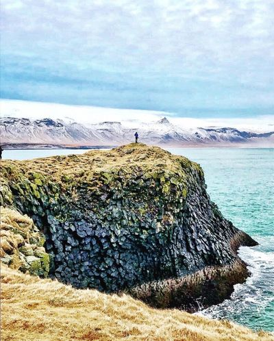 Cliff of iceland!!! Iceland Takedbyme Vacations Travel Destinations Ios Photography Prespective Mosfellsbær