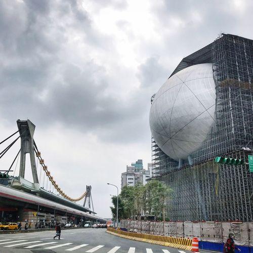 Shinlim Media Center Landmark Building at Taipei City Taiwan