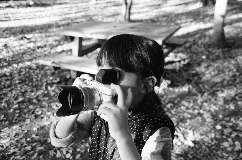 My little photograher :) / ちびっこカメラマン Taking Photos Enjoying Life Photography Kidsphotography EyeEm Best Shots Black & White Black And White Monochrome Snapshot EyeEmBestPics