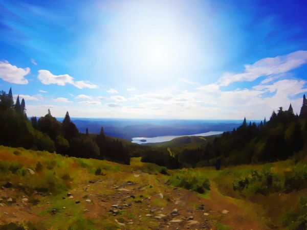 Mont Tremblant, Qc Photoshop Landscape Tranquility Sunlight High Angle View Sky Cloud Beauty In Nature Tranquil Scene Non-urban Scene Scenics