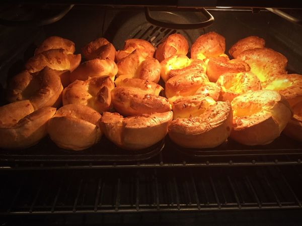 Yorkshire Pudding puffy little clouds of goodness waiting for gravy. Dinner Comfort Food