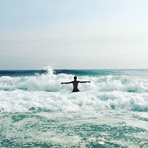 Awesomness is in waves Wave Catching  Simple Photography Watchfortheday Beach Water Eyem Simplephotography