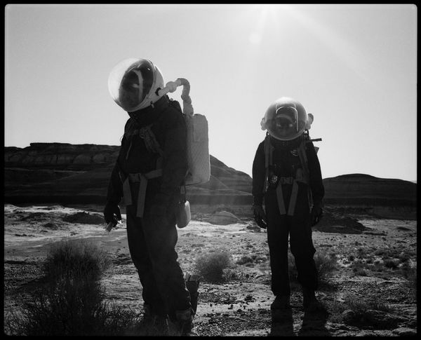 Exploring Mars Analog Mission Analogue Photography Architecture Astronauts  Desert Habitat MDRS Mars Marsonauts Observatory Plaubel Makina 67 Space Helmet Space Suit Space Travel Travel Utah Atv Black And White Journey Outdoors Red Planet Science Fiction Solar Panels Space