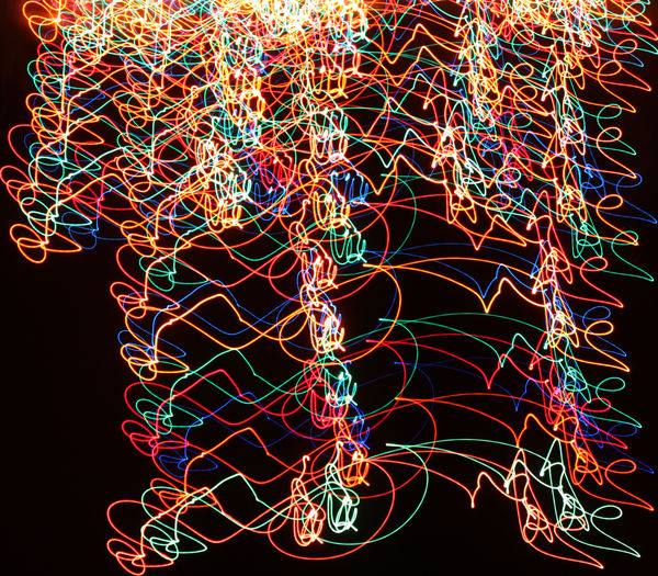 Fun With Light Black Background Close-up Day Illuminated Multi Colored No People Outdoors Technology