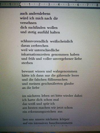 Gedicht Gedichte Lyric  Poems