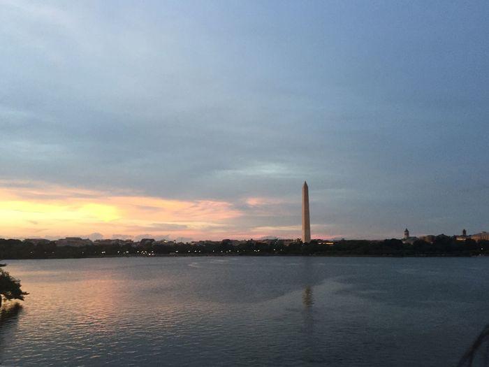 Washington Monument Sunlight Sunset Washington, D. C.