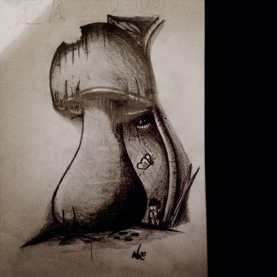 Doodle Nonnynoonoo Drawing Mushrooms