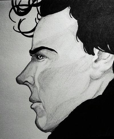Blackandwhite This Is My Art!!! Art, Drawing, Creativity My Hobby :) Sherlocked Sherlock Holmes Sherlock My Drawing Sherlockbbc Monochrome