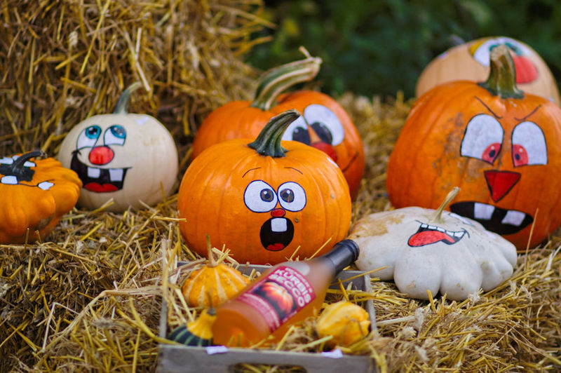 Anthropomorphic Face Celebration Close-up Day Food And Drink Grass Halloween Hay Nature No People Outdoors Pumpkin Straw