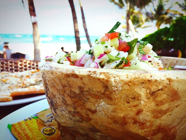 Show Us Your Takeaway! Ceviche Tulum , Rivera Maya. At The Beach Check This Out That's Me Hanging Out Enjoying Life