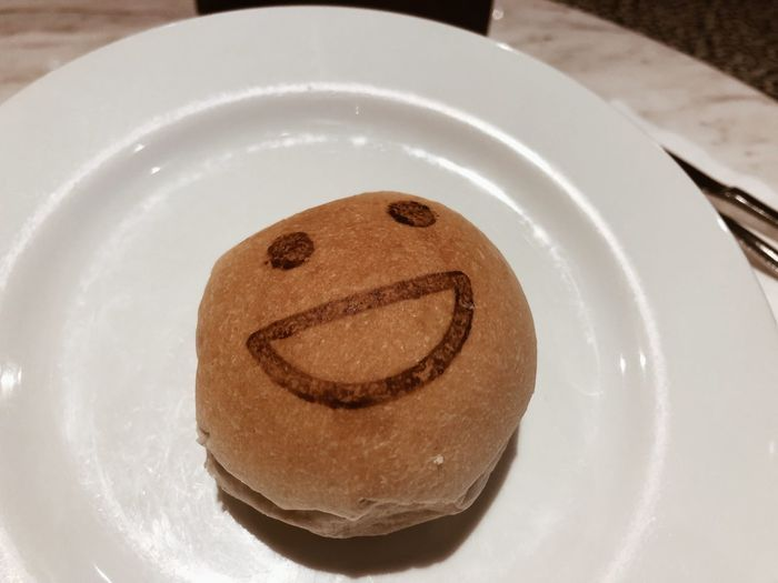 Food And Drink Food Plate Freshness Indulgence Indoors  Sweet Food Serving Size Anthropomorphic Smiley Face Unhealthy Eating Temptation No People Still Life Table Dessert Baked Close-up Smiling Ready-to-eat High Angle View