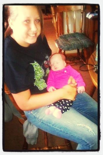 me & my niece when she was a couple weeks old.