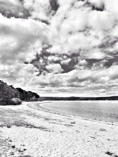 Around the bend... Black & White Clouds And Sky Landscape Scotland
