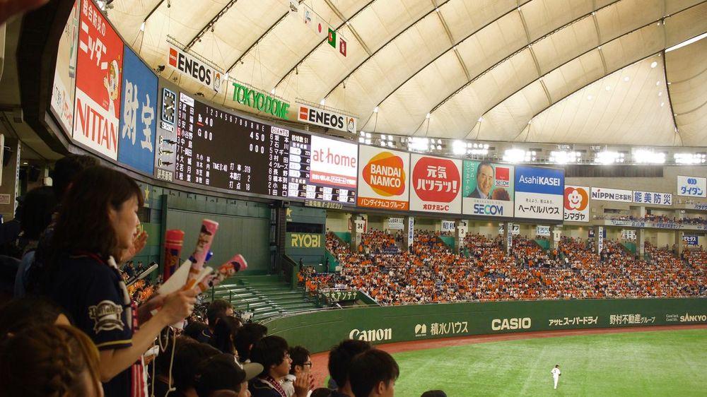 巨人対オリックス@東京ドーム 初の交流戦 東京ドーム オリックス Canon X7 Baseball Stadium Tokyodome Victory Giants Orix