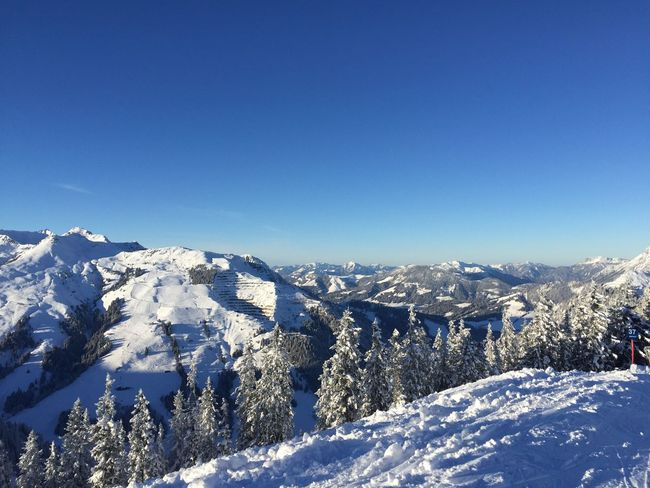 Snow Winter Cold Temperature Sky Beauty In Nature Clear Sky Blue Mountain Environment No People