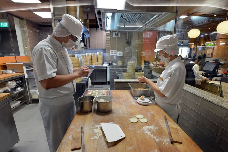At Work Business First Eyeem Photo Food Hands At Work Indoors  Occupation Preparation  Restaurant Sweet Food Table Xiao Long Bao
