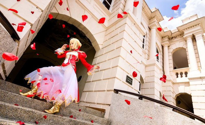 Saber Nero | Fate/Grand Order | Fate/Extra Fate  Nero Cosplay Girl Portrait Asdgraphy Rose Petals People And Places