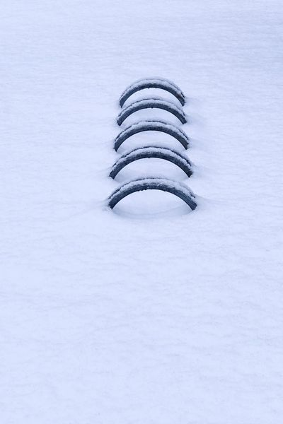 Obstacles. Iron White Snow Snowing Cold Temperature Winter Snowflake Close-up Frozen