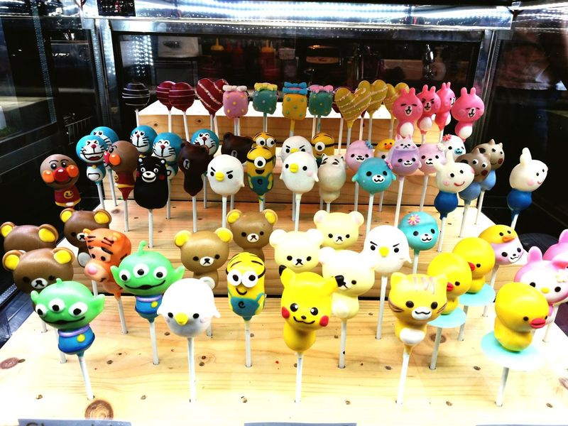 Large Group Of Objects Variation Multi Colored Abundance No People Hanging Choice Indoors  Day Close-up Bird Cake Cakepop Cartoon