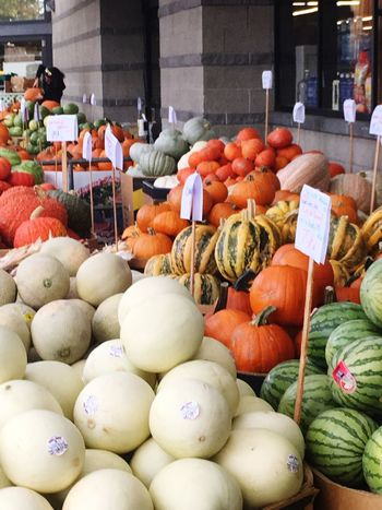 Vegetable Food Market Pumpkin For Sale Food And Drink Market Stall Arrangement Large Group Of Objects No People Choice Variation Retail  Healthy Eating Abundance Freshness Day Fruit Price Tag Outdoors Halloween