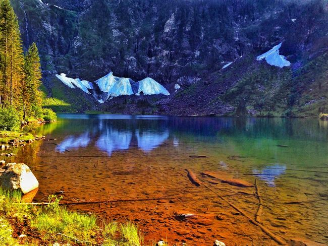 """Colorful glacier fed lake with crystal clear water. """"Lake 22"""" Mountain Lake Beauty In Nature Nature Scenics Reflection Outdoors Water Landscape Tranquility No People Day Sky Granite Falls, Washington"""