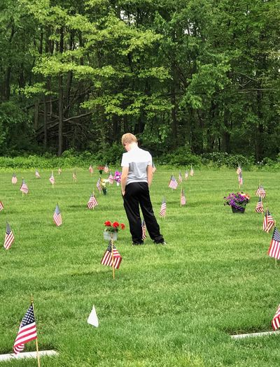 Some gave all Cemetery Patriotism Flag Veteran Grass Soldier Grandpa Grandfather Paying Respects Memorial Day Loss Death Sadness Memorial Memories Saying Goodbye Saying Good Bye Fort Custer Battle Creek