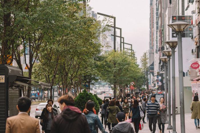 Gangnam Street streetview Asian  Building City City Life City Life City Street Cityscapes Downtown EyeEm Best Edits Gangnam Gangnamstyle Korea Lifestyles Modern Open Edit Outdoors Road Seoul Street Streetphotography Togetherness Urban Geometry Urban Landscape Urban Lifestyle Urbanphotography