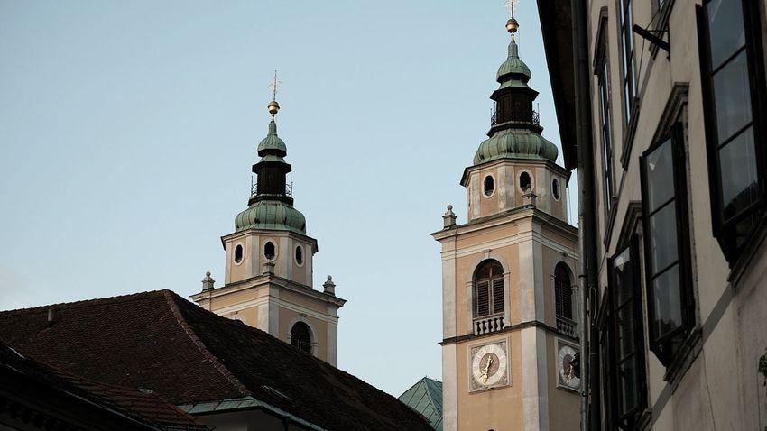 Ljubljana Catedral Tower Bell Ljubljana, Slovenia City Clock Cityscape Clock Face Religion History Roof Clock Tower EyeEmNewHere The Traveler - 2018 EyeEm Awards
