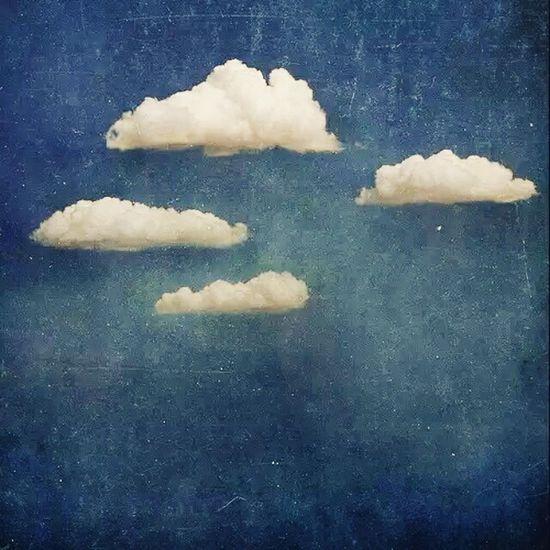 Bulut Bulutlar Bulut☁ Beyaz White Blue Mavi Vintage Vintage❤