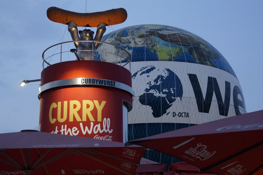 Currywurst!!! Berlin Communication Currywurst!!! Day Low Angle View No People Outdoors Radar Sky Text