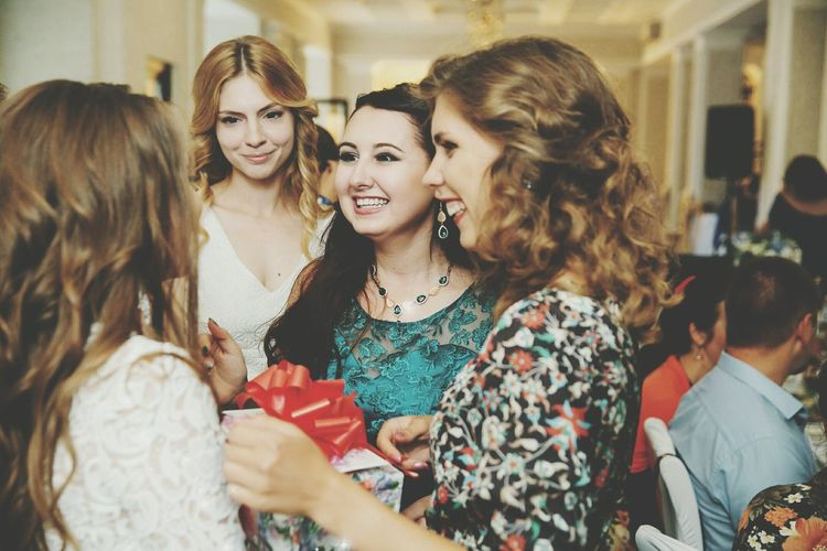 Only Women Friendship Adult Togetherness Smiling Adults Only Long Hair Women Mature Adult People Business Finance And Industry Happiness Store Real People Young Women Day Standing Portrait Lifestyles Outdoors Wedding Wedding Photography Model Moscow Celebration Event