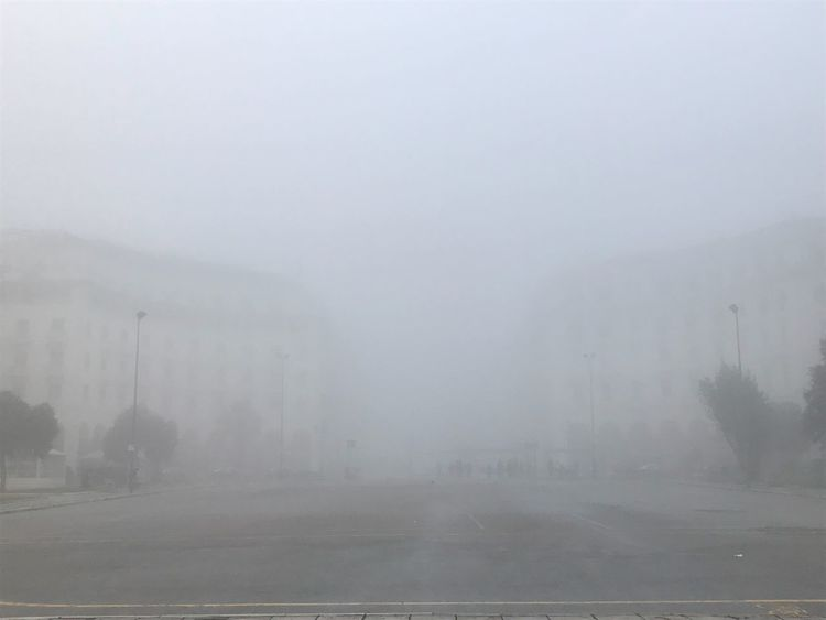 The Fog Nofilter City View  City Aristotelous Square Enjoying Life Goodmorning World  Thessaloniki Mist Winter Nature Sky No People
