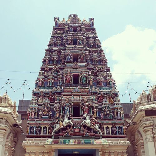 The famous Indian Temple, you can go to inside and watch the Sri-Puja Forgotthetemplename PetalingStreet Indian Art vscom travel vacation bestvacations wonderlust beautifuldestinations