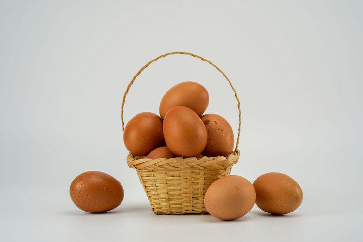 Chicken eggs in