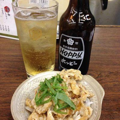 鶏皮ポン酢でホッピー! Drinking Hoppy キンミヤ 酒場