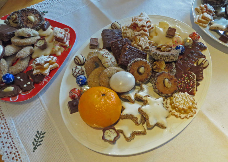 Advent Christmas Cookies Christmas Time Close-up Coffee Table Cookies Dessert Family Family Gathering Family Time Food Fresh Baked High Angle View Indoors  No People Plate Ready-to-eat Serving Size Table