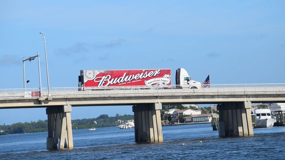 Boating In Florida  Casual Day Florida Life Friends Friends Having Fun Fun Gulf Of Mexico Madeira Beach Florida Bridge Budweiser