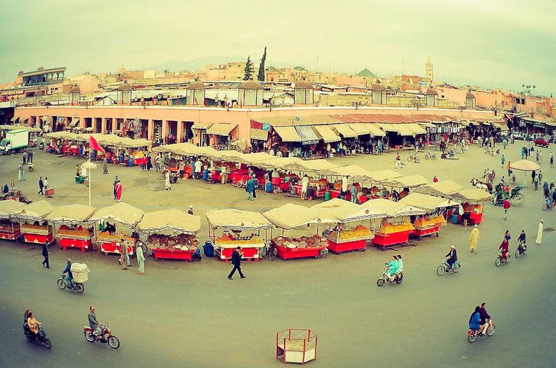 travel Large Group Of People Outdoors High Angle View Lifestyles Crowd Market Real People travel photography by film