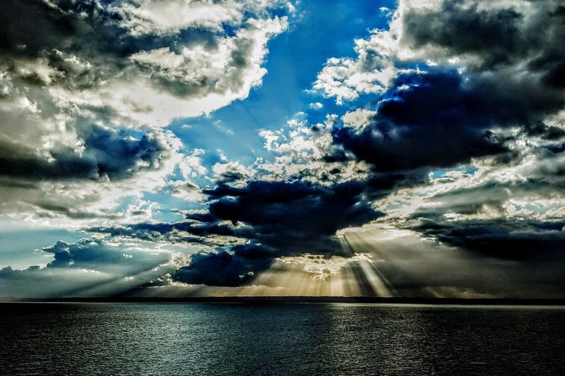 Nature Life Onboard Waves Beauty In Nature Calm Tranquility Tranquil Scene Water Sea Sky Cloud - Sky Power In Nature Sky Only Meteorology Heaven Cumulus Cloud Fluffy
