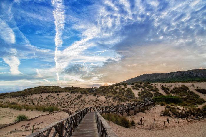 Dunes of Cala Mesquida, Mallorca Cala Mesquida Dunes Mallorca SPAIN Beauty In Nature Cloud - Sky Clouds And Sky Day Landscape Mountain Nature No People Outdoors Scenics Sky The Way Forward Tranquil Scene Tranquility
