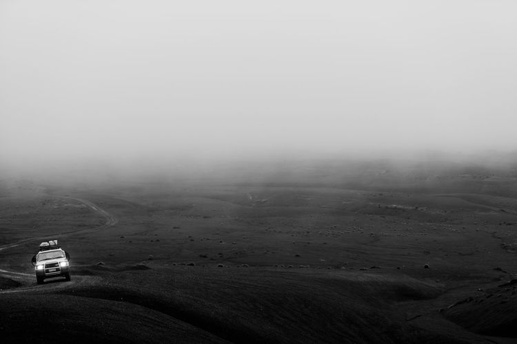 Exploring off the desert road in New Zealand. 4x4 Adventure Black And White Fog Landscape Nature New Zealand Outdoors Sand Transportation Truck