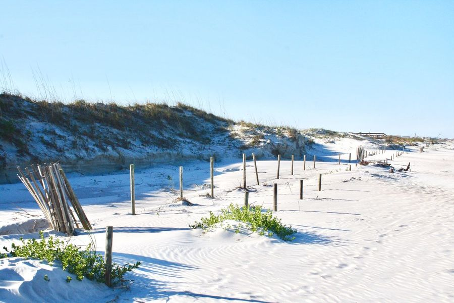 Nature Tranquil Scene Clear Sky Beach Tranquility Outdoors Beauty In Nature Scenics White Color Sand Sea Day Non-urban Scene High Angle View No People Blue Landscape Breathing Space