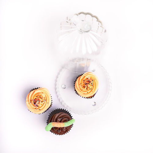 Sweet colorful tasty fairy cakes with frosting, isolated on a white background Bake Cake Colorful Cupcake Delicious Dessert Fairy Cake Food Food And Drink Frosting No People Recipe Sweet White