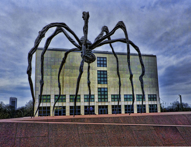Architecture Built Structure City Low Angle View Sculpture Sky Spider