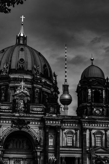 Religion Building Exterior Architecture Dome Built Structure Religion Spirituality Belief Place Of Worship Building Sky Travel Destinations Travel Cloud - Sky No People City Nature Outdoors Spire  Ornate Tv Tower Berlin Fernsehturm Fernsehturm Berlin