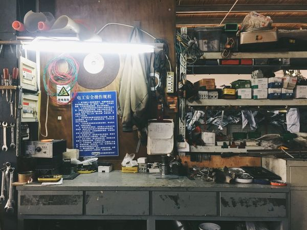 Working Working Desk Desk Studio Small Business Indoors  Old Factory Old-fashioned