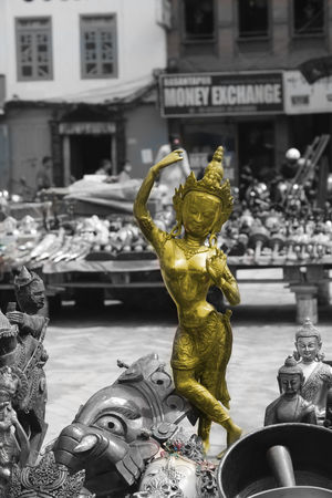 Basantapur Durbar Square Black & White Black And White Photography Culture Kodorins_photography One Color Statue Tourist Attraction