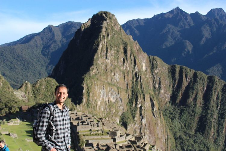 Person Machu Picchu Peru Aguas Calientes Mountain Ruin Wanderlust Real People One Person Casual Clothing Hiking Adventures
