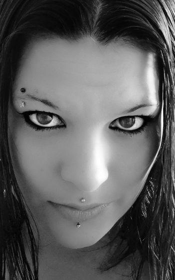 b/w beauty Pierced Piercing Piercings Model B/w Blackandwhite Piercedwomen Medusa Lambret EyebrowPiercing Young Women Portrait Beautiful Woman Looking At Camera Studio Shot Human Face Headshot Beauty Close-up Eyeliner Eye Make-up Iris - Eye Mascara Eyebrow Human Eye Face Powder