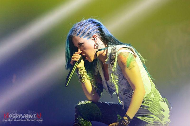 Alissa White-Gluz at Tele-Club, Yekaterinburg @30.10.2014 Concert Tele-club Arch Enemy
